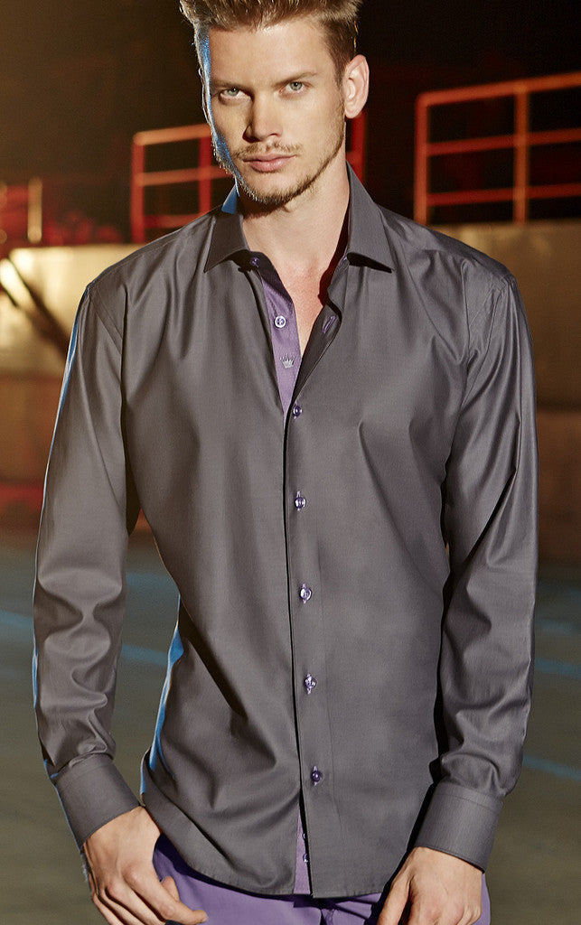 Bertigo Stefano Grey Shirt - Slim
