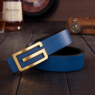 Electric Blue Vintage G Belt - Slim