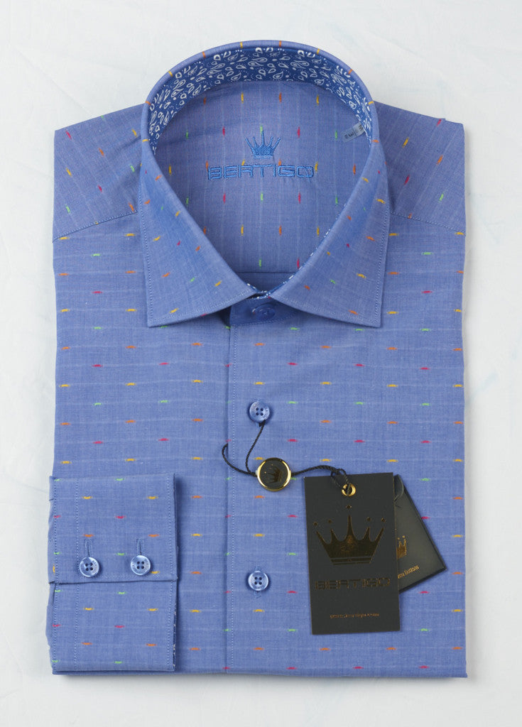 Slim Menswear Dress Shirt Toni by Bertigo - Slim  - 3