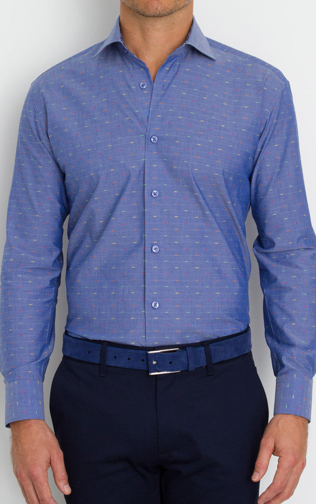 Slim Menswear Dress Shirt Toni by Bertigo - Slim  - 1