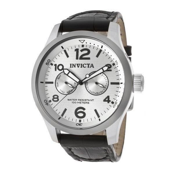 I-Force by Invicta Black Leather - Slim
