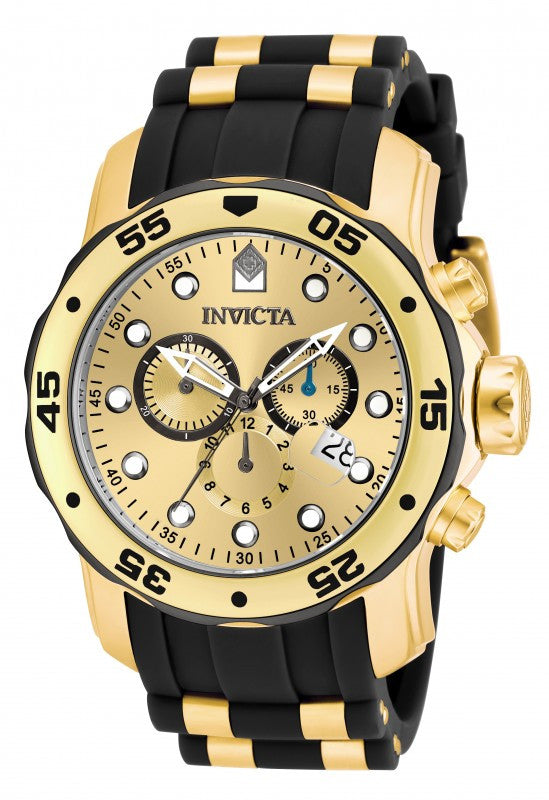 Pro Diver  Gold and Black by Invicta - Slim