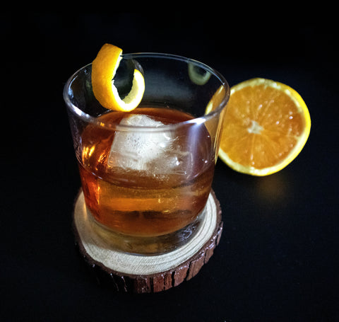 Old Fashioned with Orange Infused Maple Syrup