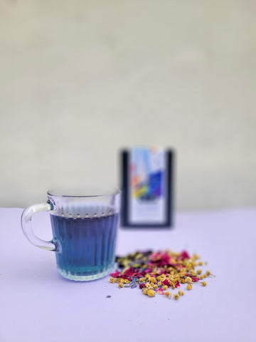 Butterfly Pea Flower Tea collaboration with Casa of Love for Pride Month