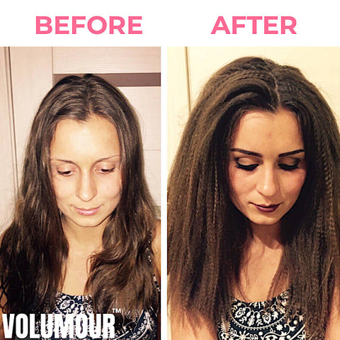 Lady used Volumour for hair volume