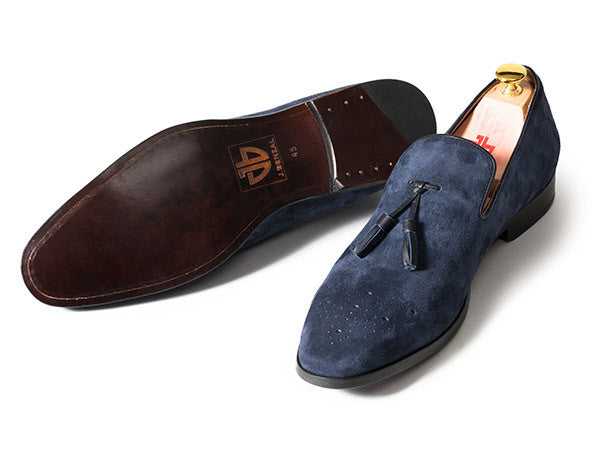 The Jim - Navy Suede