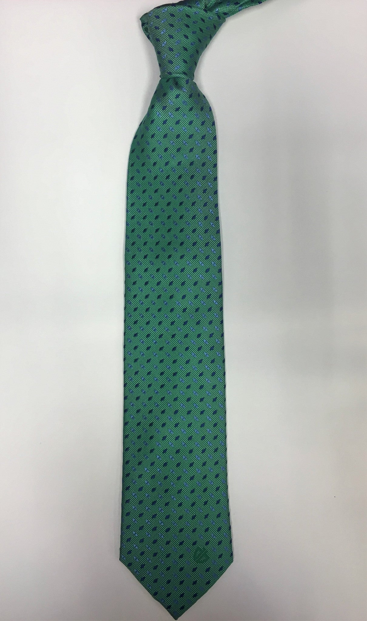 Green w/ Blue Dots Tie