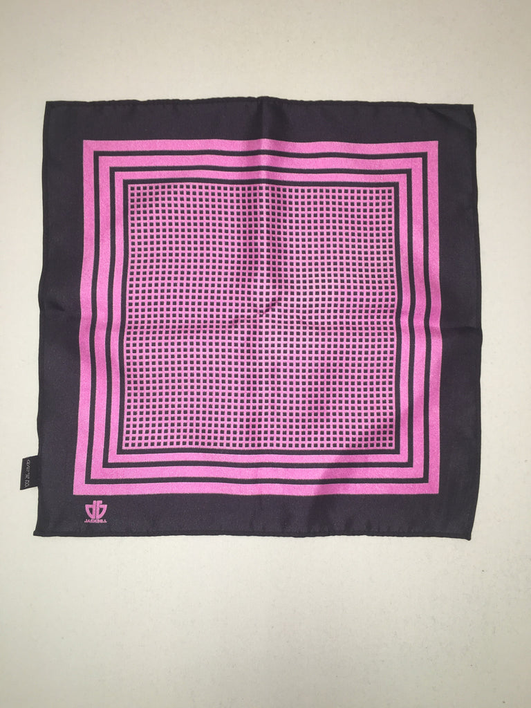 Black w/ Purple Pocket Square