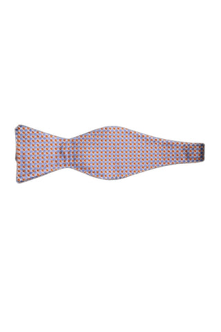 Blue w/ Orange Squares Bowtie