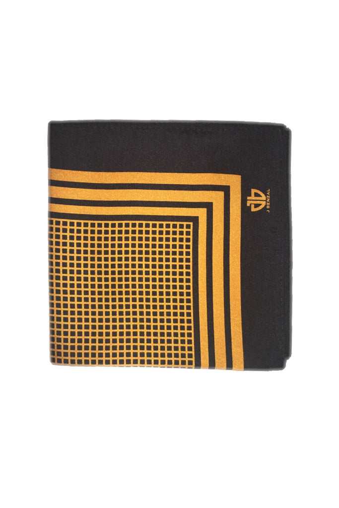 Black w/ Gold Pocket Square