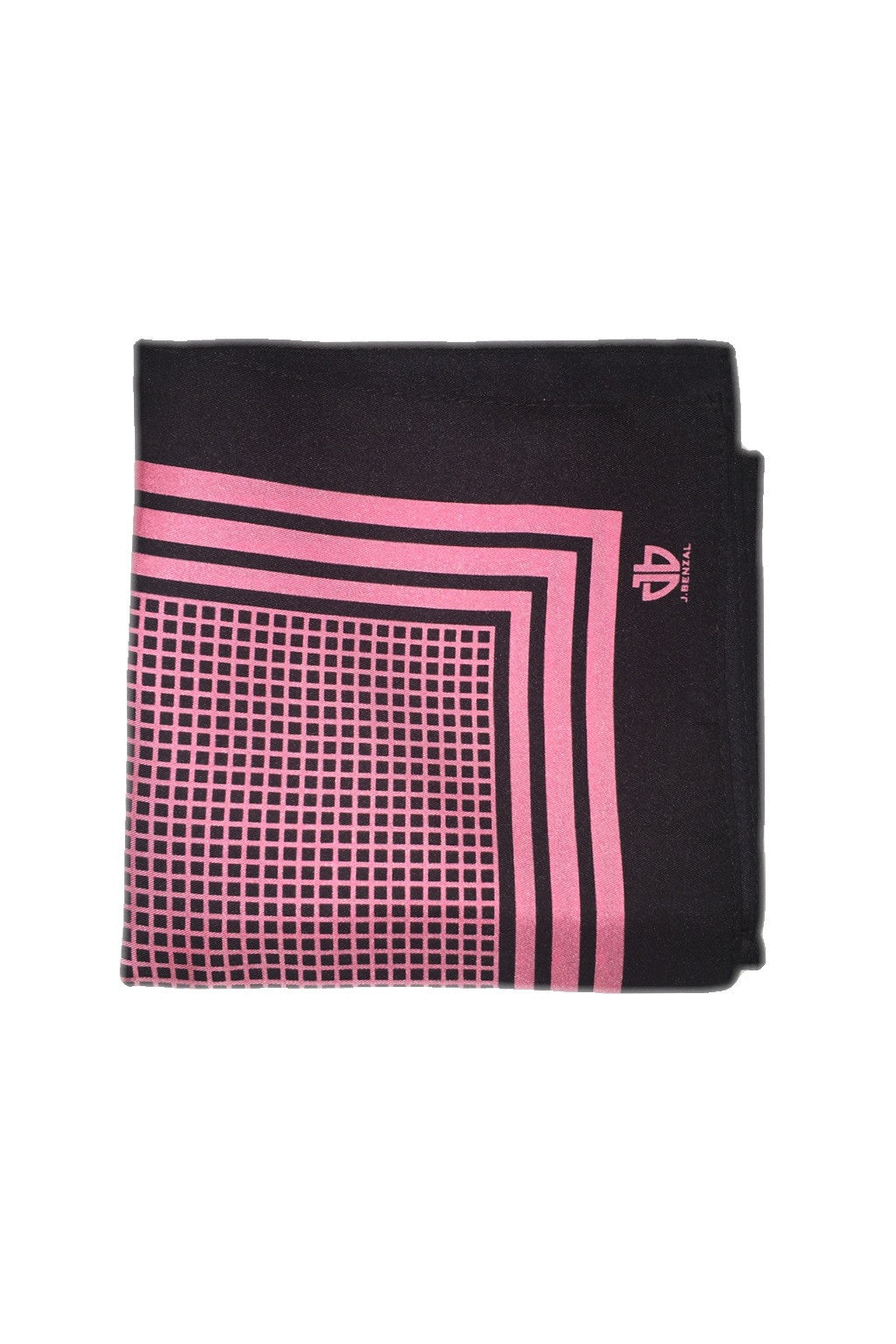 Black w/ Pink Pocket Square