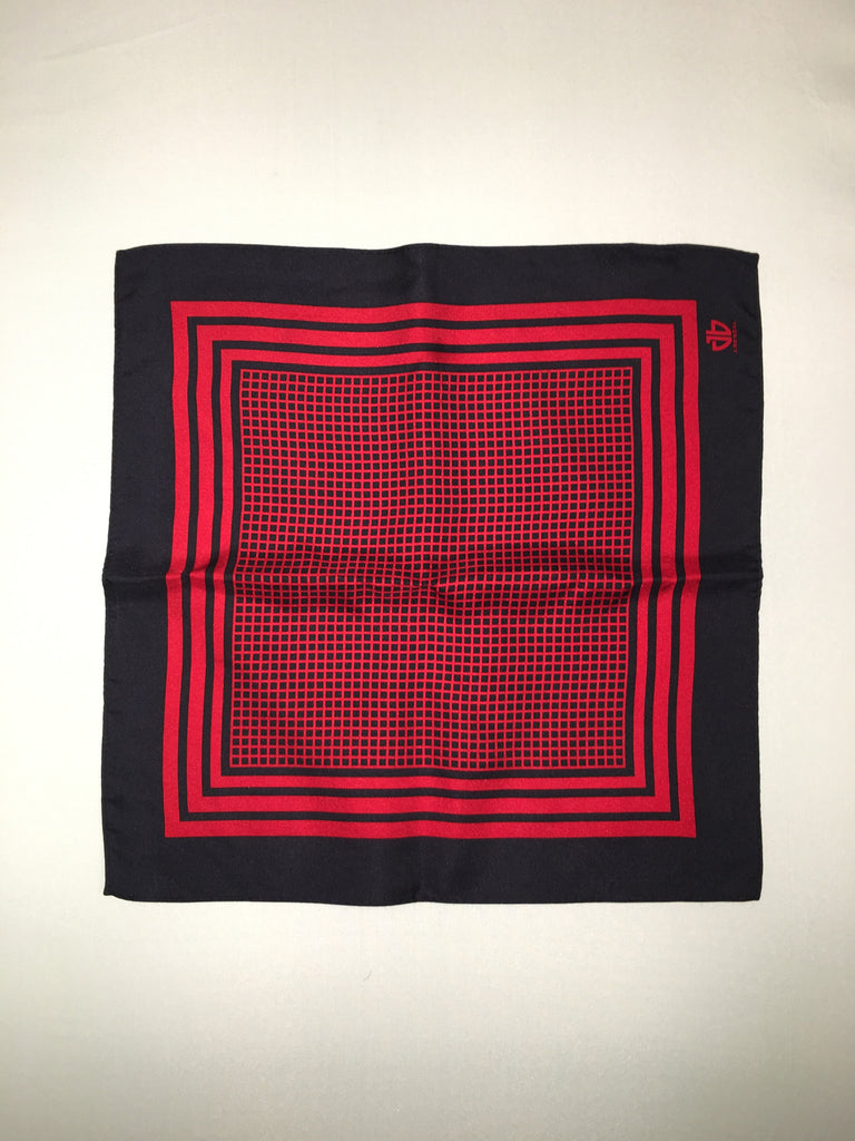 Black w/ Red Pocket Square