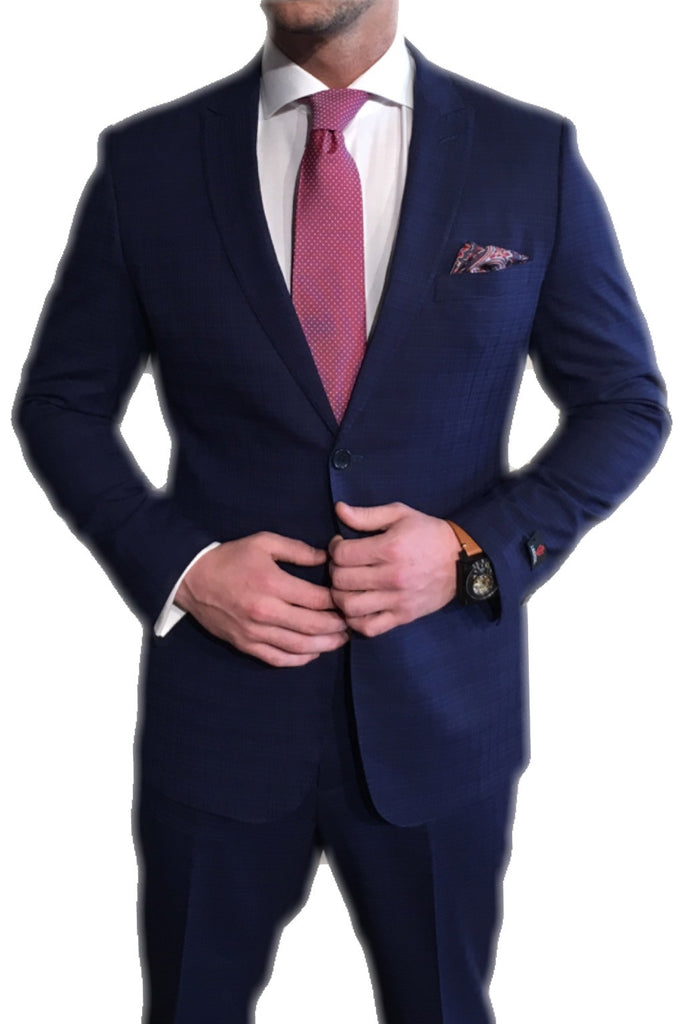 Navy with Blue/Brown Suit
