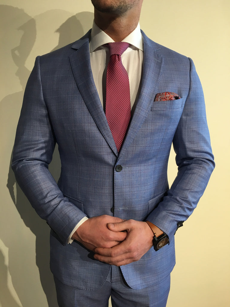 Stone Grey/Maroon WP Suit