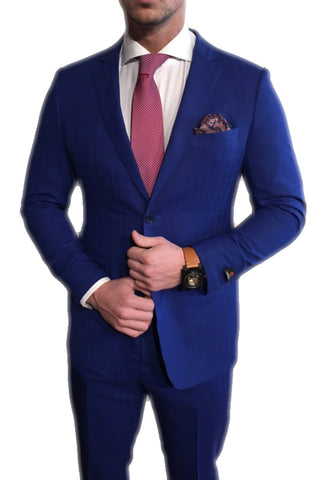 Royal Blue/Brown Suit