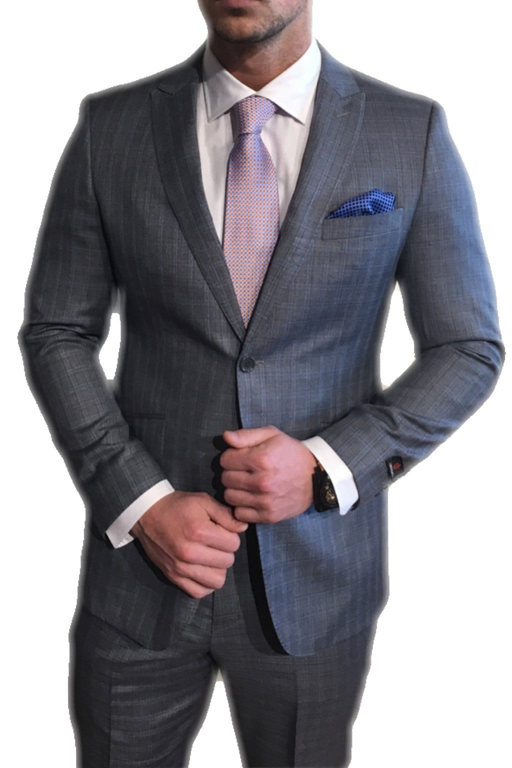 Grey/Blue Plad Suit