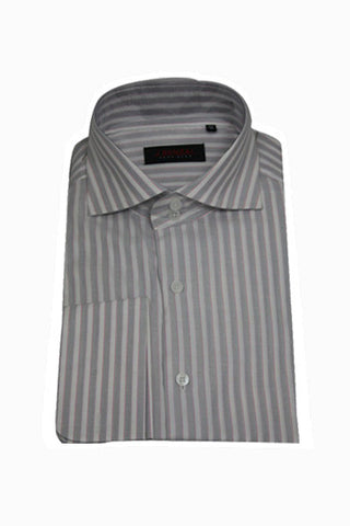 Grey/White Stripe Shirt