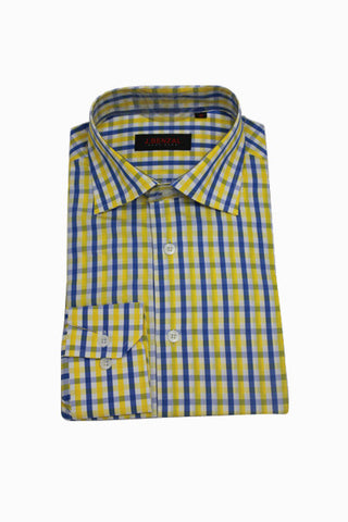 Blue/Gold Check Shirt