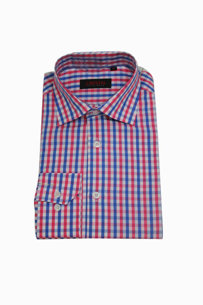Blue/Pink Check Shirt