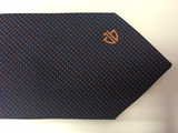 Blue w/ Orange Dots Tie