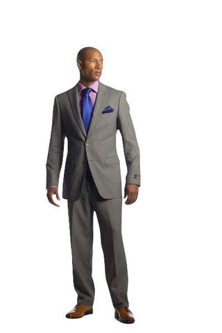 Silver Grey Black Suit