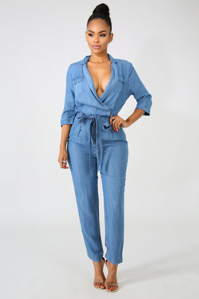 Easy Denim Jumpsuit