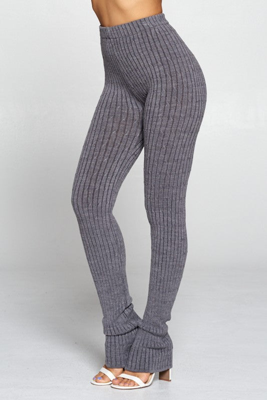 Knit Split Bottom Leggings