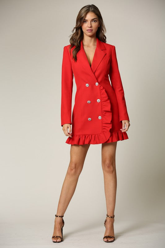 Ruffle Blazer Dress