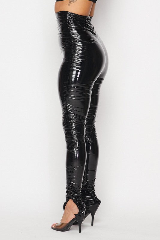 Ruched Latex Pants