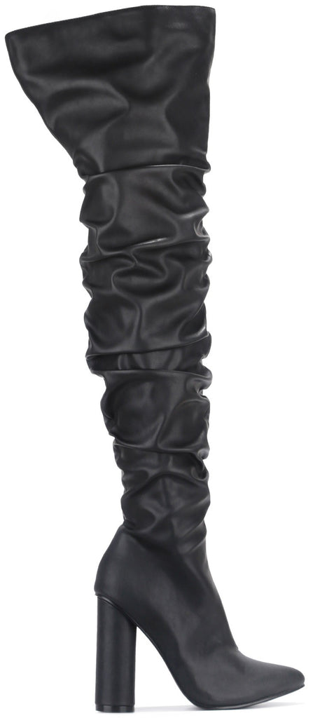 Adore Thigh High Scrunchy Boots