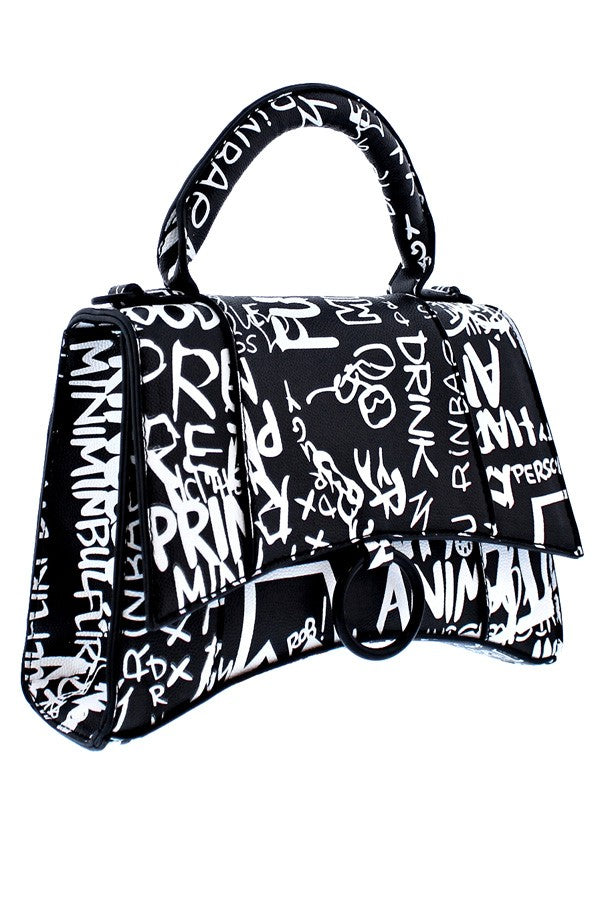 Bardoza Bag- Black Graffiti