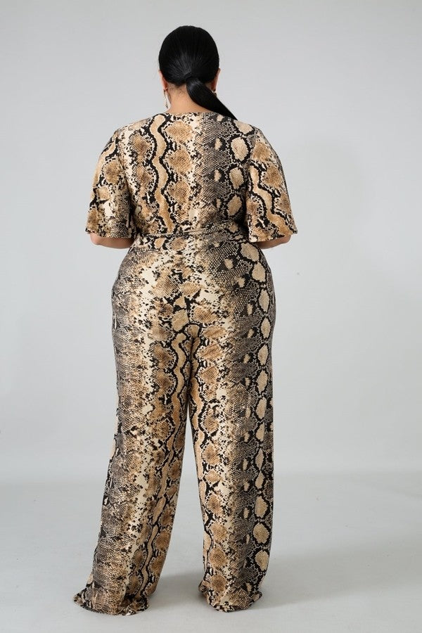 Scale Jumpsuit- Plus Size