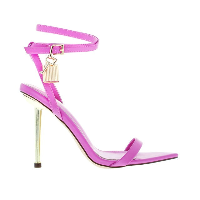 Banks Strappy Lock Heel- Pink