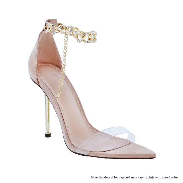 Banks Ankle Chain Heel- Nude