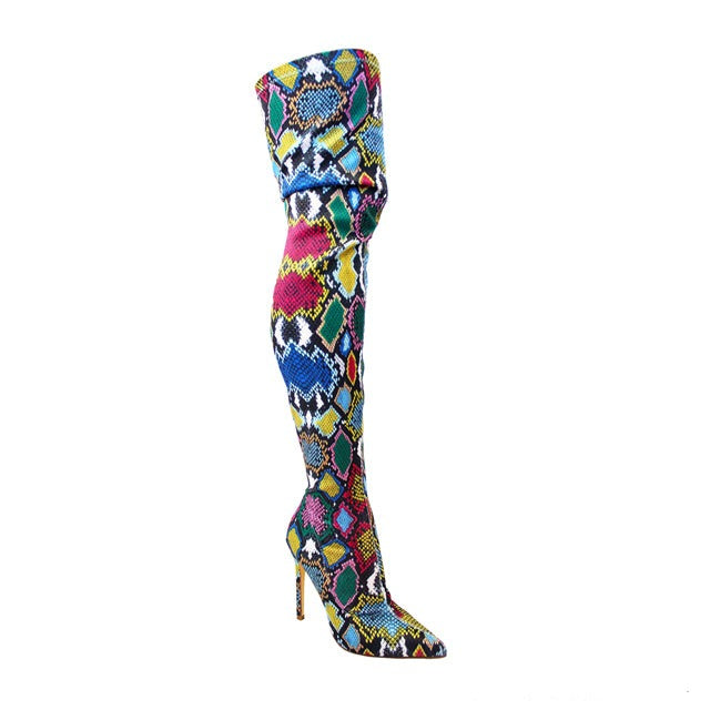 Gisele Printed Over The Knee Boot
