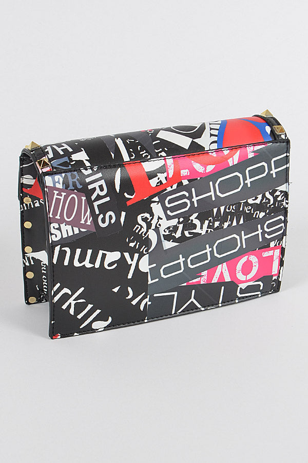 Studded Graffiti Bag