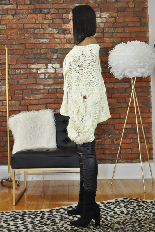 Hand Knit Oversize Sweater