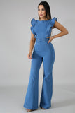 Butterfly Denim Jumpsuit