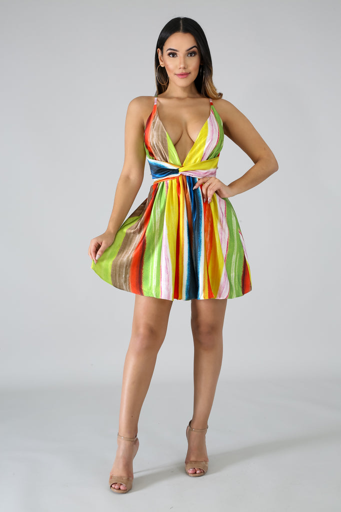 Color Twist Mini Dress