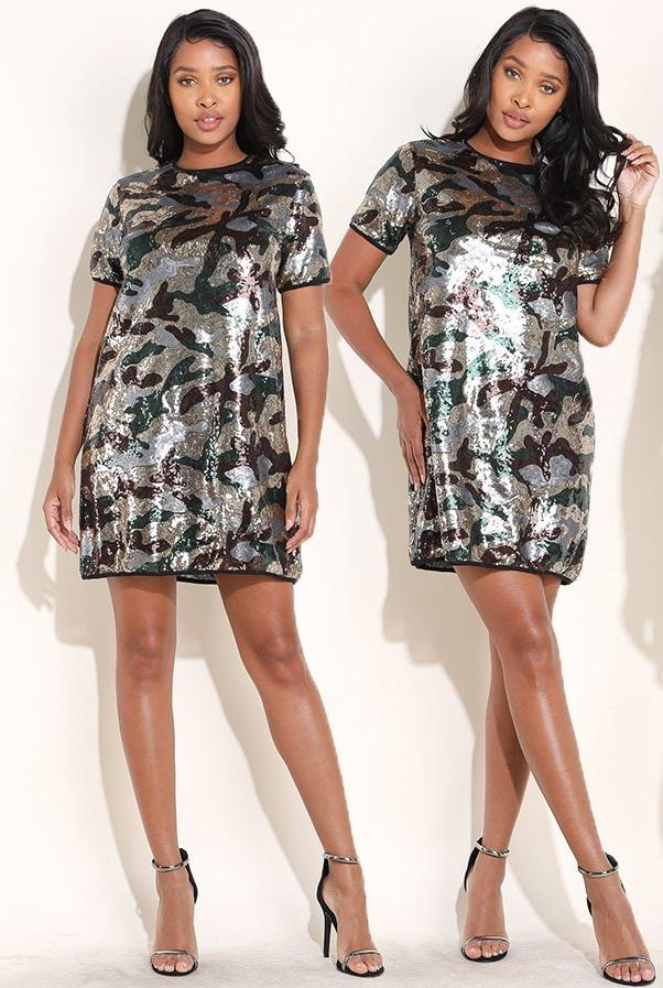 Camo Fab Shirtdress