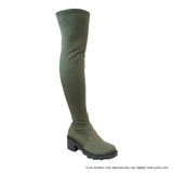 Leema Over The Knee Boot- Olive