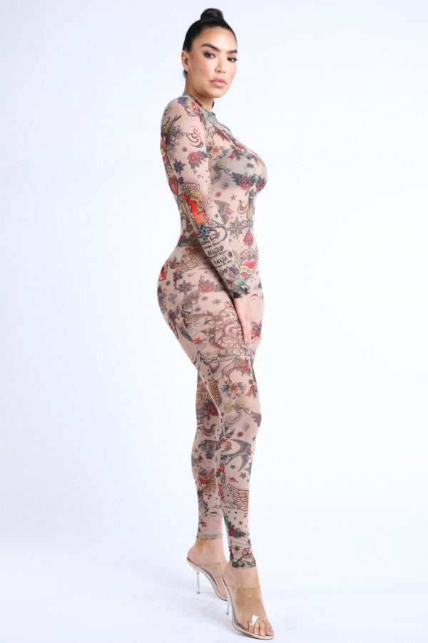 Tattoo Girl Jumpsuit