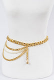 Layered Chain Pearl Belt