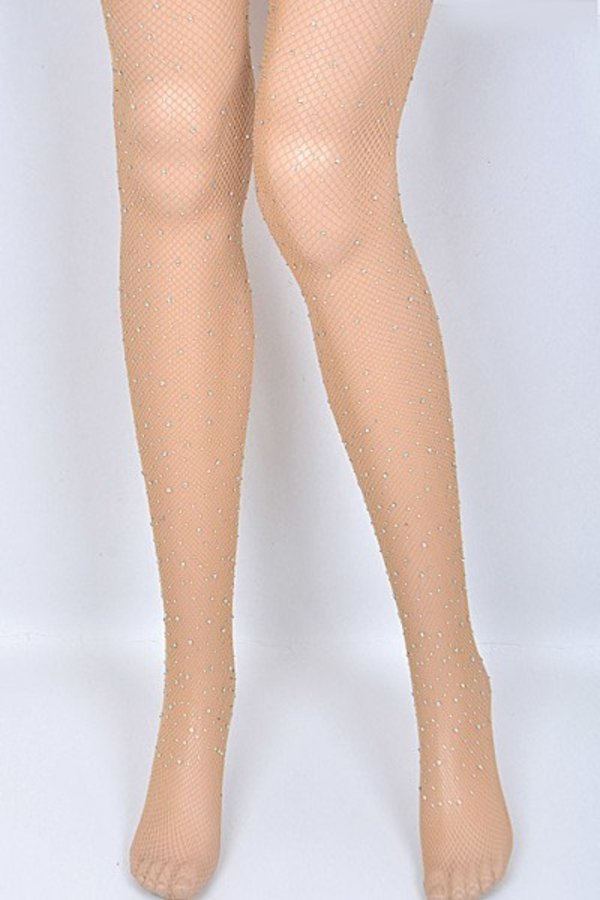 Rhinestone Fishnet Stocking