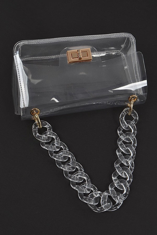 Clear Chain Crossbody Bag
