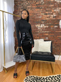 Ruched Latex Skirt