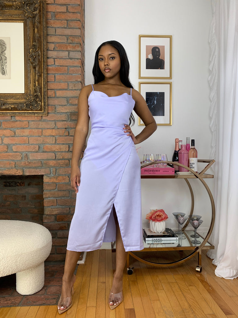 Maddy Slip Dress- Periwinkle