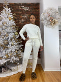 Sweater Lounge Set- Ivory