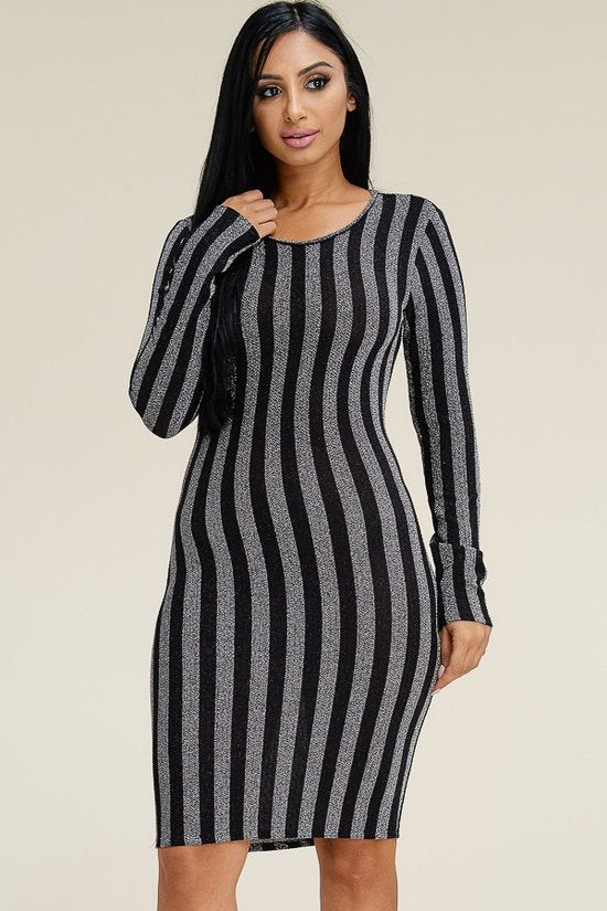 Metal Stripe Dress