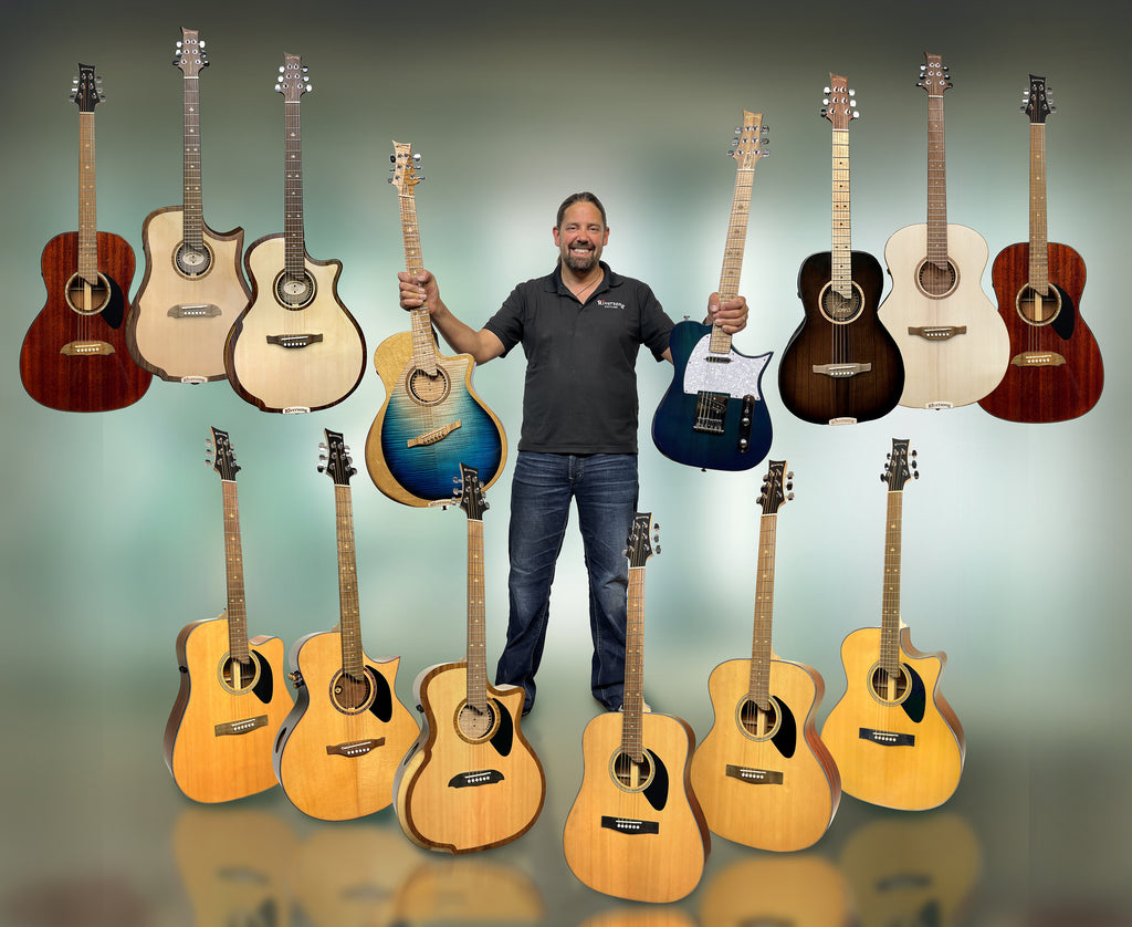 Mike and guitars